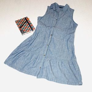 Theory Sleeveless Chambray Dress SZ 8